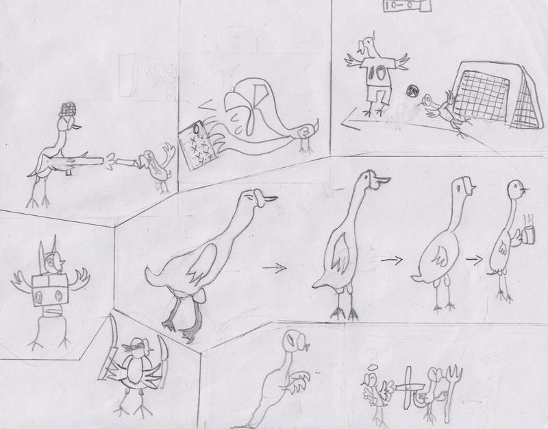 两只天鹅对头简笔画-小诺的特色日记套餐图片