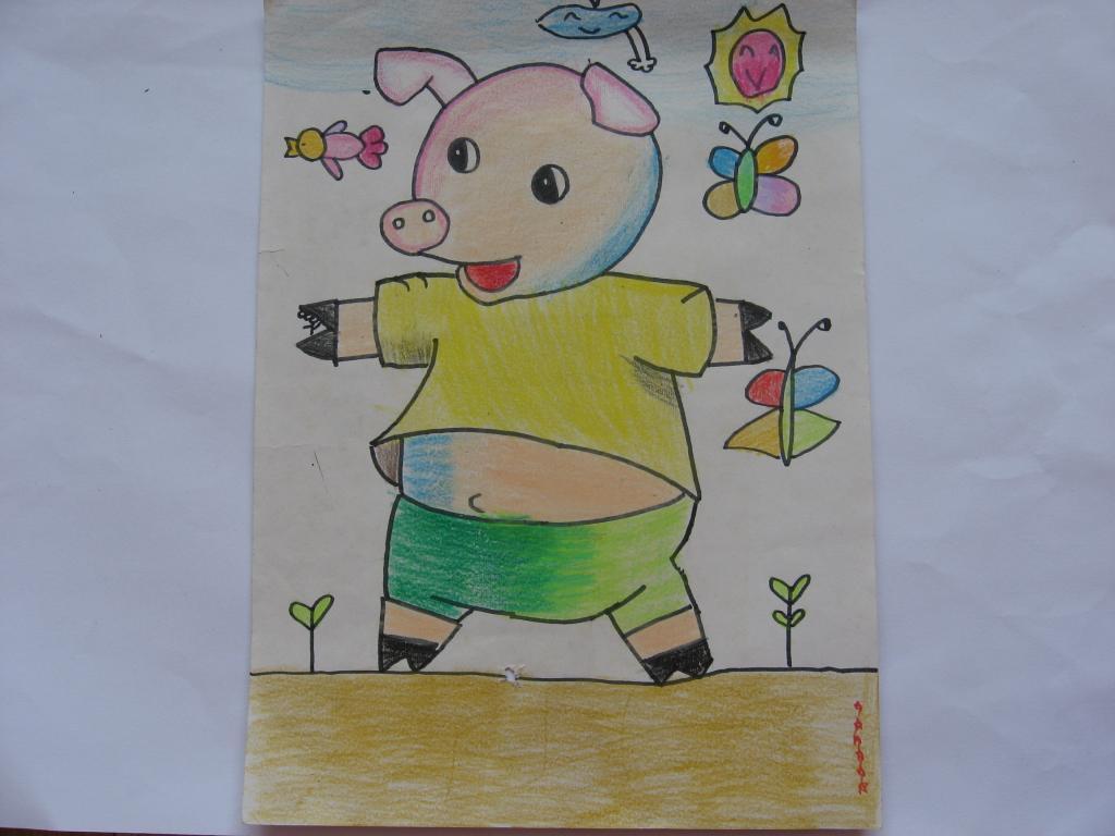 小学一年级的校园生活绘画图片